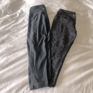 Set of 2 Athleta cropped gray leggings sz small